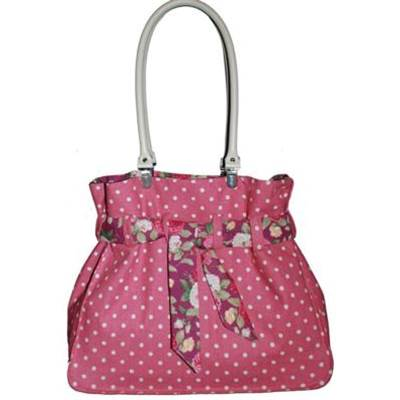 KIT ABC COLLECTION SAC CEINTURE POIS ROSE