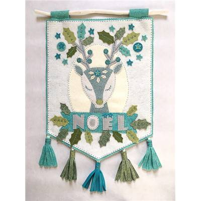 KIT FEUTRINE CERF DE NOEL MISTY WINTER - THE CINNAMON PATCH