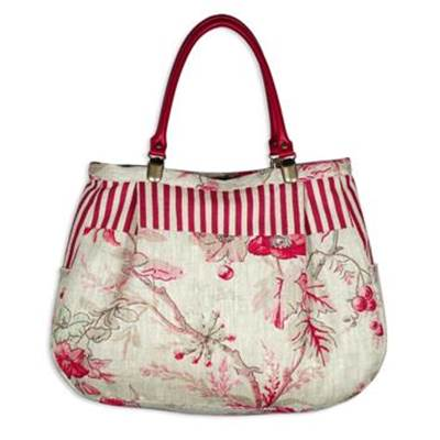 KIT ABC COLLECTION SAC PARIS FLEURI ROSE ET RAYE ROSE ROUGE