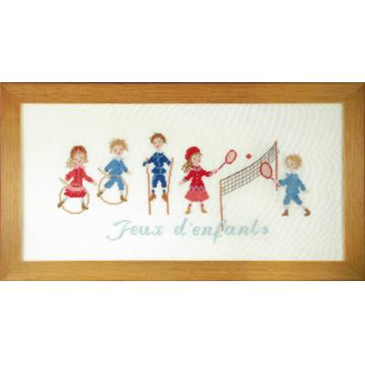 DIAGRAMME POINT DE CROIX ABC COLLECTION - JEUX D'ENFANTS