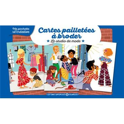 CARTES PAILLETEES A BRODER - LE STUDIO DE MODE