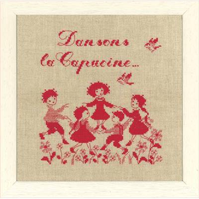 DIAGRAMME POINT DE CROIX ABC COLLECTION - DANSONS LA CAPUCINE MONO