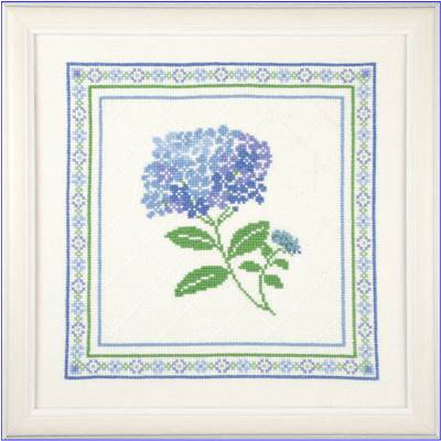 DIAGRAMME POINT DE CROIX ABC COLLECTION - HORTENSIA