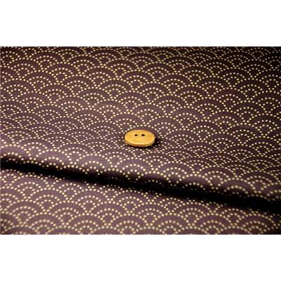 COUPON TISSU 45X55 JAP VAGUE VIOLET