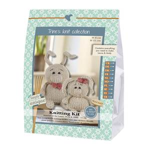 KIT LUKAS & FRIENDS COLLECTION - LAPINS LAURA 8 CM & ANDY 11 CM