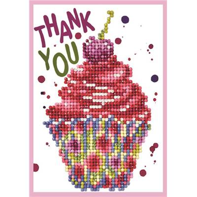 CARTE DE VOEUX DIAMOND DOTZ - CUP CAKE THANK YOU