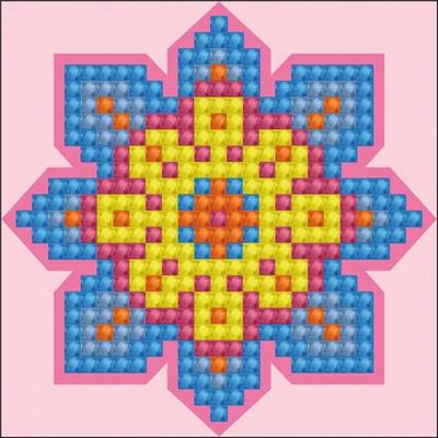 KIT BRODERIE DIAMANT POUR DEMONSTRATION ET ATELIERS - ROSE