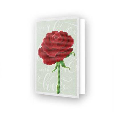 CARTE DE VOEUX DIAMOND DOTZ - LOVE ROSE