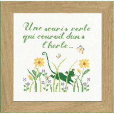 DIAGRAMME POINT DE CROIX ABC COLLECTION - UNE SOURIS VERTE COULEUR