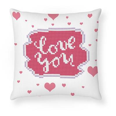 KIT BRODERIE DIAMANT COUSSIN - LOVE YOU