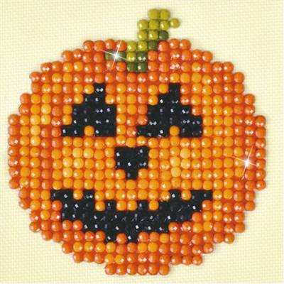 KIT BRODERIE DIAMANT - LA CITROUILLE D'HALLOWEEN
