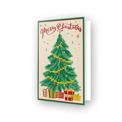 CARTE DE VOEUX DIAMOND DOTZ - MERRY CHRISTMAS TREE