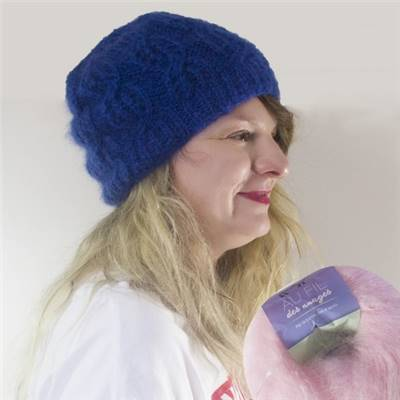 KIT MOHAIR - 1 PELOTE - BONNET - ROSE